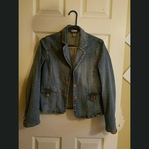 Old Navy Fitted Stretch Jean Blazer